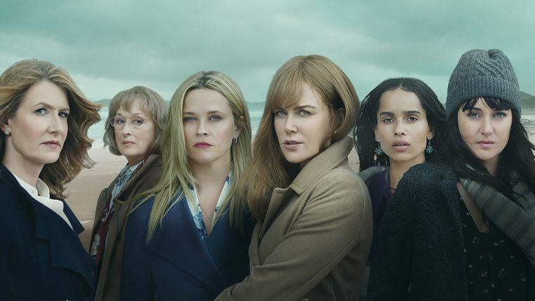 In het tweede seizoen van 'Big Little Lies' eist vooral Meryl Streep (tweede van links, als Mary Louise) een prominente rol op.