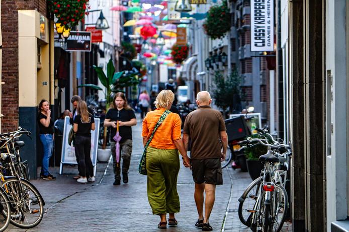 De Grote Overstraat in het centrum van Deventer.