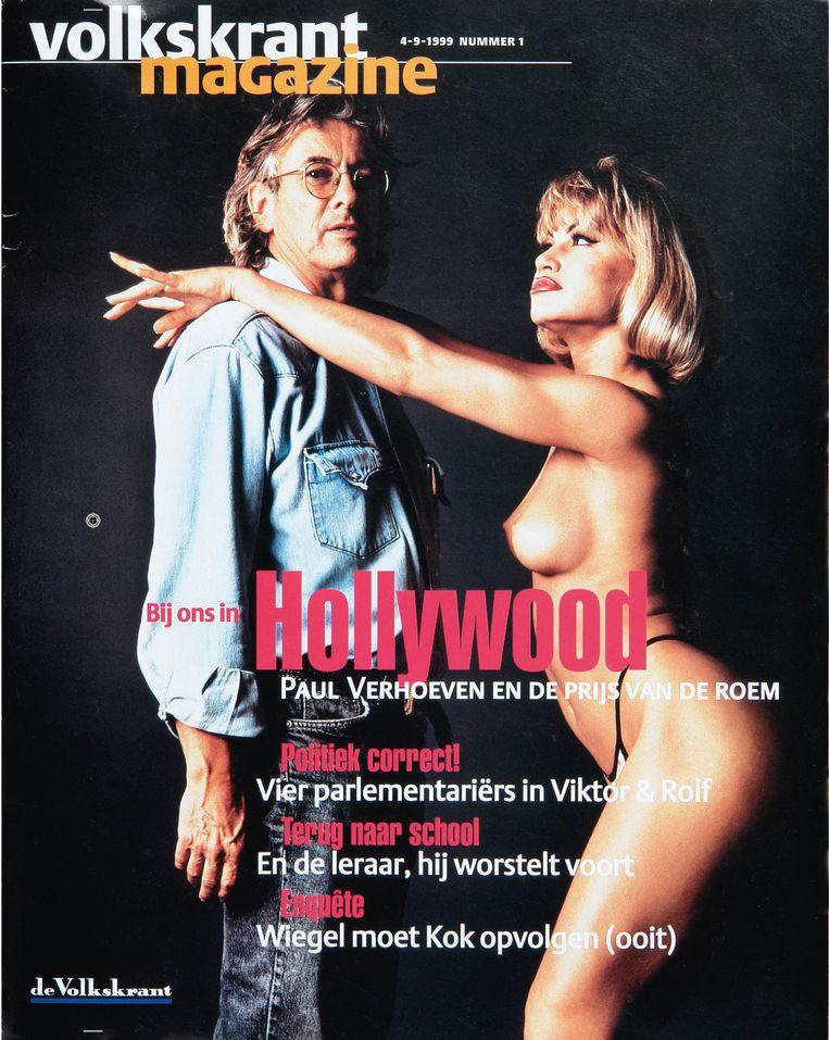 De allereerste cover van Volkskrant Magazine. Beeld