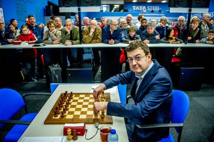 Erwin l'Ami tijdens op het Tata Steel Chess Tournament.