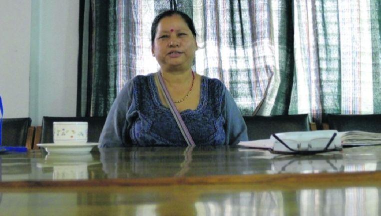 Sashi Kala Singh, leider van de school voor gehandicapten in Kirtipur, Nepal.