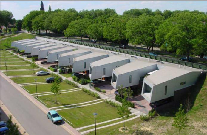 De nieuwe woningen bestaan voor een groot deel uit 'landelijke woningen'.