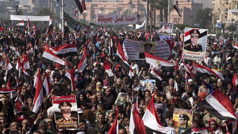 Pro-Sisidemonstraties in Caïro. Beeld getty
