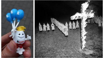 Speelgoedje uit Kindersurprise-ei verwijst (onbedoeld) naar Ku Klux Klan