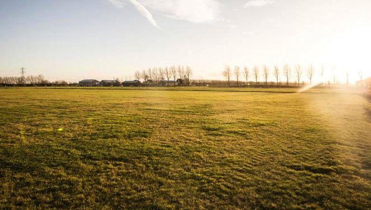 De locatie nabij Schiphol waar het nationale monument voor de slachtoffers van rampvlucht MH17 moet komen Beeld anp