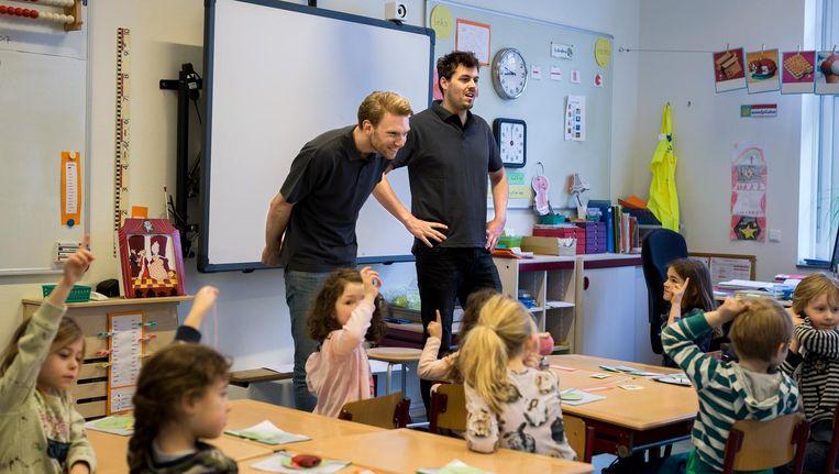 Meesters op de Peetersschool in Zuid. Beeld Rink Hof