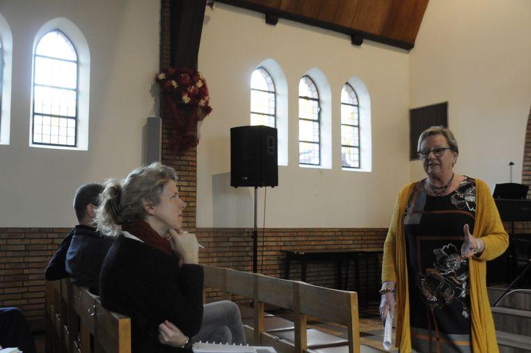 Greta Van Emelen legde uit welke herbestemming de kapel Bergvijver al enkele jaren heeft.