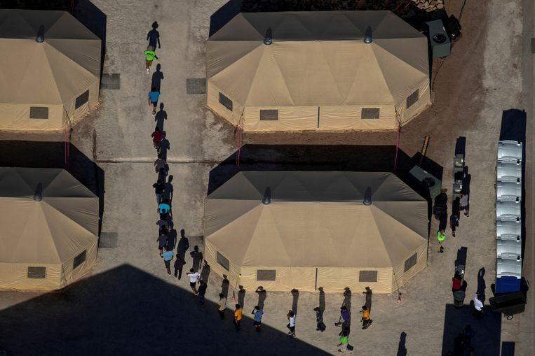 Archieffoto: migrantenkinderen in een ander opvangcentrum in Texas.