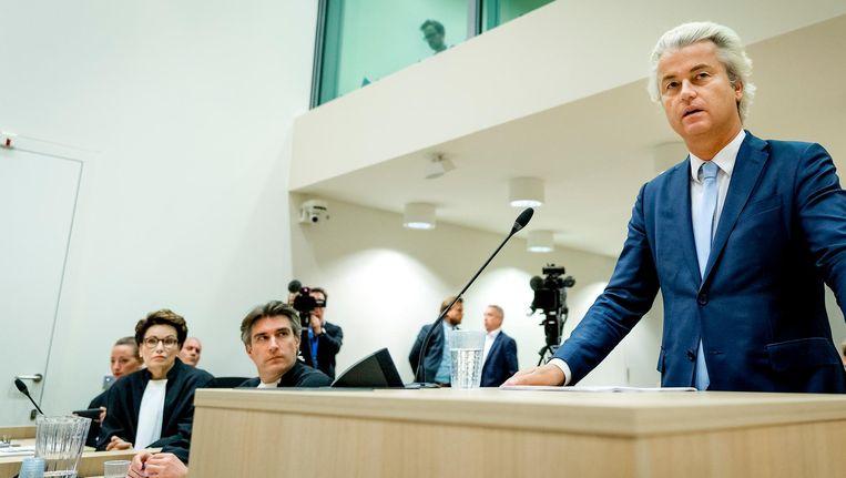 Geert Wilders vorig jaar in de rechtbank op Schiphol Beeld anp