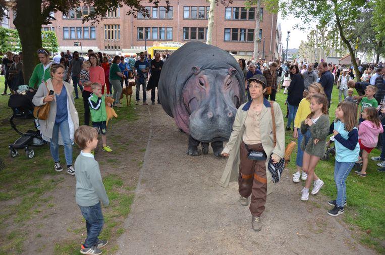 Nellie De Hippo was een voltreffer bij de jonge bezoekers van het Parktheaterfestival