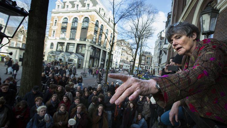 Gunning in februari vorig jaar voor een menigte boze studenten bij het Maagdenhuis Beeld anp