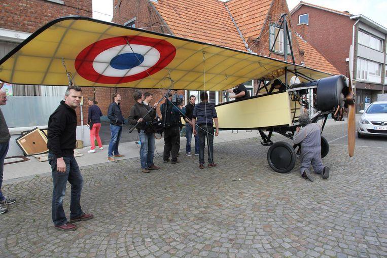 De replica stond gisteren op het marktplein voor opnames van het nieuwe programma van Karl Vannieuwkerke.