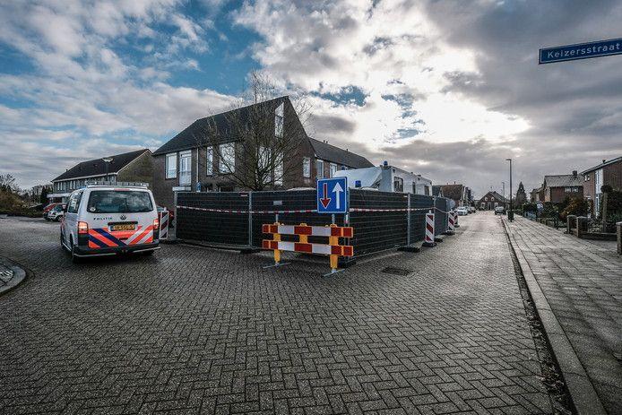Politie ter plaatse tijdens het incident in Winterswijk.