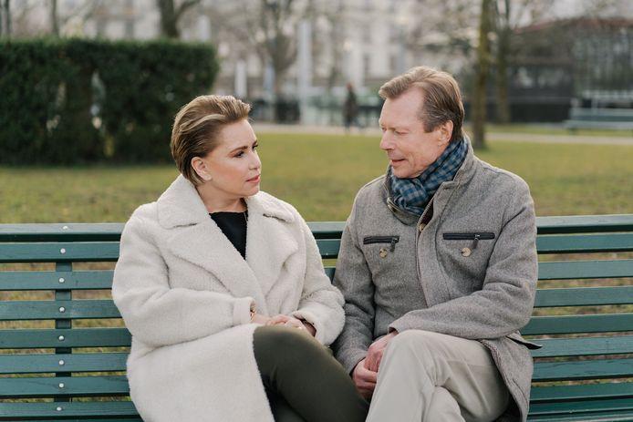 Maria Teresa en Henri van Luxemburg.