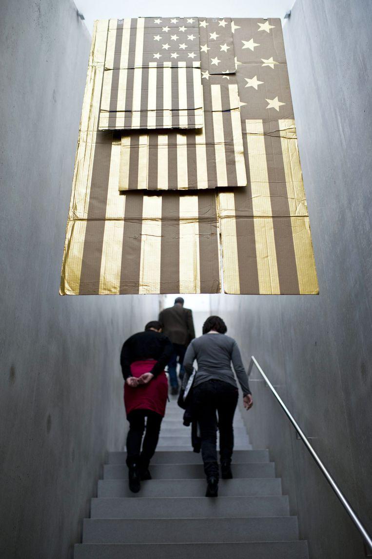 Een installatie van Danh Vo op een expositie in het Oostenrijkse Bregenz. Beeld ap