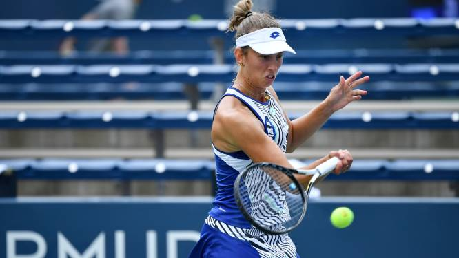 Elise Mertens ziet tweede ronde uitgesteld nadat ze eerste set naar zich had toegetrokken
