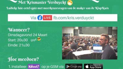 """Volksvertegenwoordiger en quizfanaat Kris Verduyckt (sp.a) organiseert """"Quarantaine Quiz"""""""