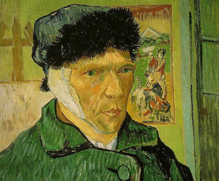 Zelfportret Van Gogh zonder oor. Beeld Wikimedia Commons
