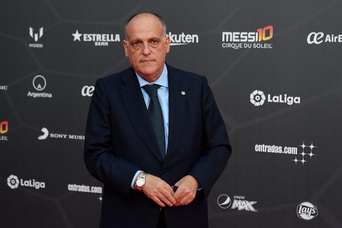 Javier Tebas, de voorzitter van La Liga.