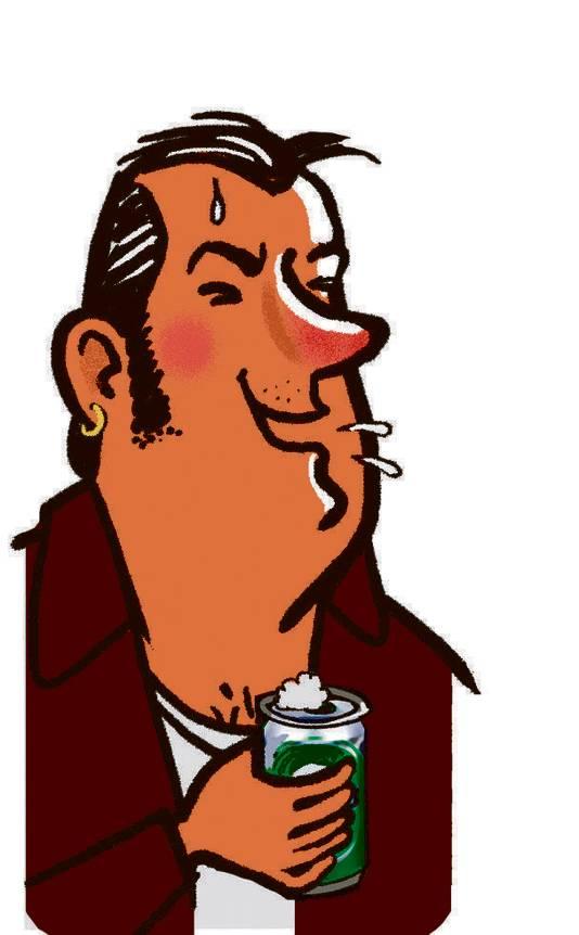 De Drinker: hoort zichzelf na een paar borrels heel graag praten.