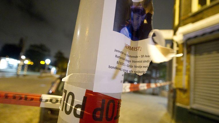 In de Boergoensestraat in Rotterdam is vermoedelijk het lichaam van Jennefer gevonden. Beeld anp