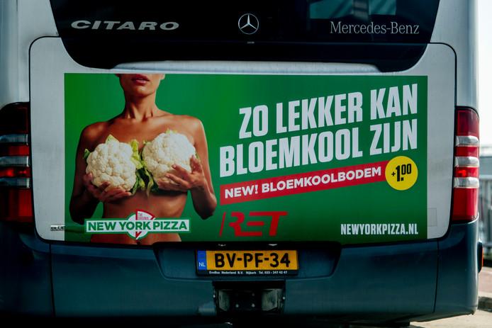 De bloemkolen-reclame van New York Pizza.