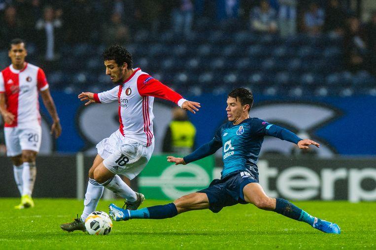Invaller Yassin Ayoub kon het tij niet keren voor Feyenoord. Beeld BSR Agency