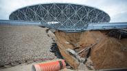 Zware regenval zorgt voor schade aan Volgograd Arena