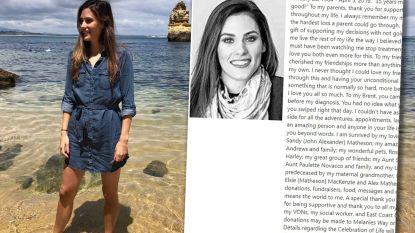 """""""35 jaar lijkt misschien niet lang, maar het was geweldig"""": vrouw schrijft eigen overlijdensbericht"""