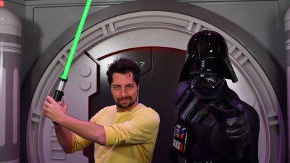 Gilles Van Bouwel oog in oog met 'Star Wars'-schurk Darth Vader