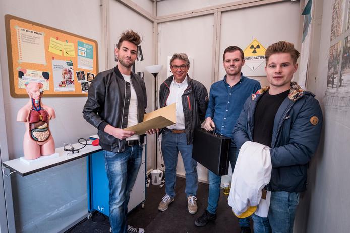 Joris van den Bergh, Henri Muis, Dirk Delisse, Rob van Rijbroek (vlnr)
