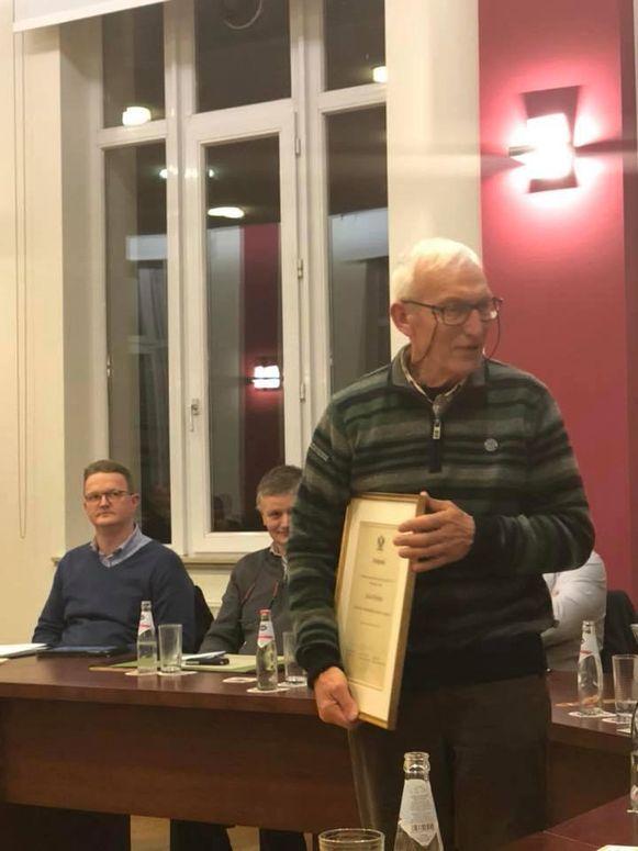 Jules Robijns was vereerd met de erkenning.