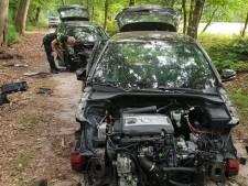 Auto's strippen in een stikdonker bos, in Drunen durven ze het