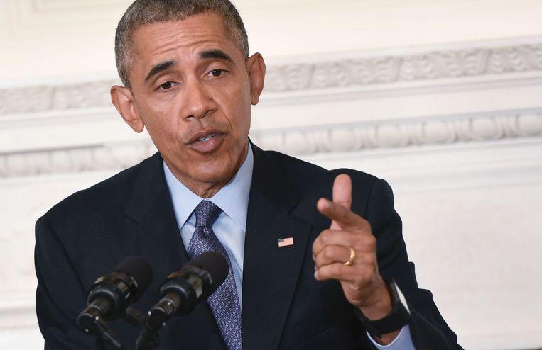 De Amerikaanse president Barack Obama. Beeld anp