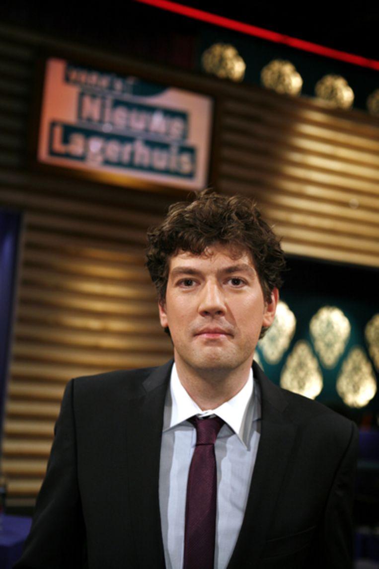 Lennart Booij, als presentator in het debatprogramma VARA's Nieuwe Lagerhuis. Beeld ANP
