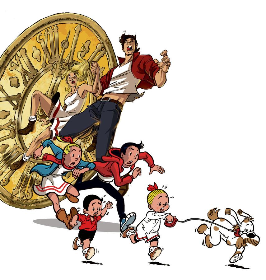 Ook Suske en Wiske gaan met de tijd mee.  ,,We willen niet in nostalgie blijven hangen. De strip was én is bedoeld voor kinderen tussen de 9 en 12 jaar'', zegt hoofdscenarist Peter van Gucht.