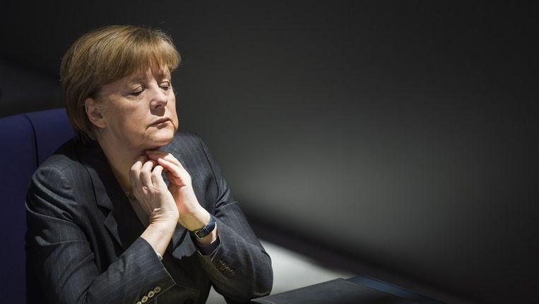 De Duitse bondskanselier Angela Merkel. Beeld afp