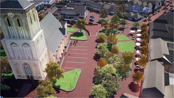 Illustratie van het toekomstige centrum van Didam. Of toch niet?
