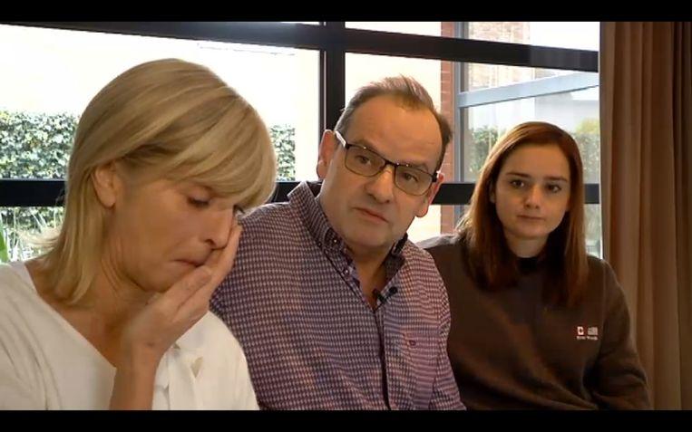 De ouders en de vriendin van de vermiste Marc De Bonte.