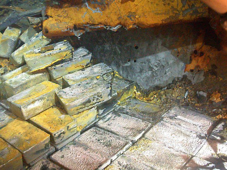 In 2013 werden 61 ton of 1.547 zilverstaven naar boven gehaald