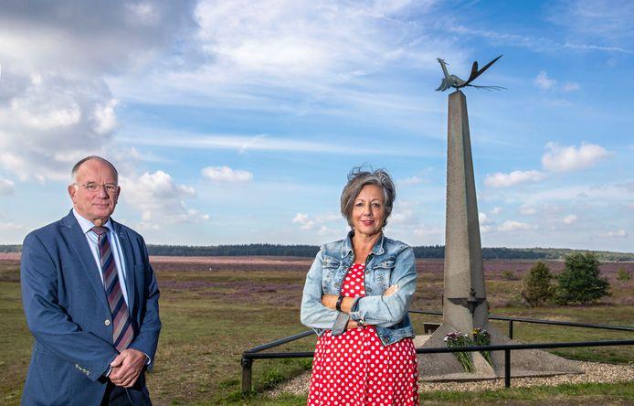 Roger Beets en Truus Lockhorn op de Ginkelse Heide.