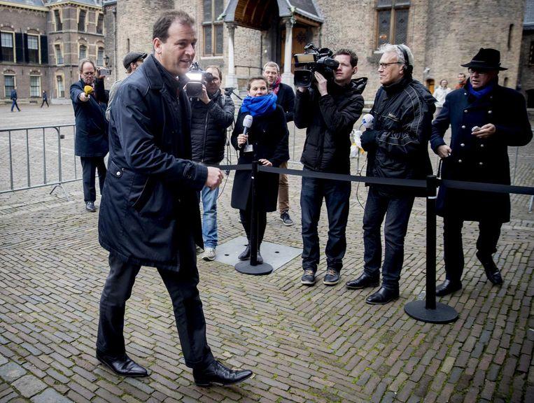 PvdA-leider Lodewijk Asscher arriveert op het Binnenhof. Beeld anp