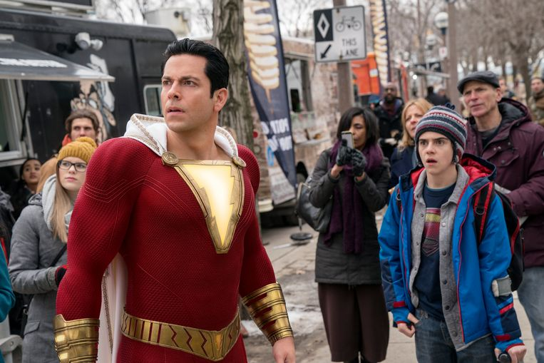 Zachary Levi in 'Shazam!'.
