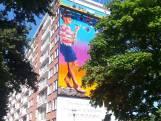 Pucciniflat: grijs te lijf met immense muurschildering