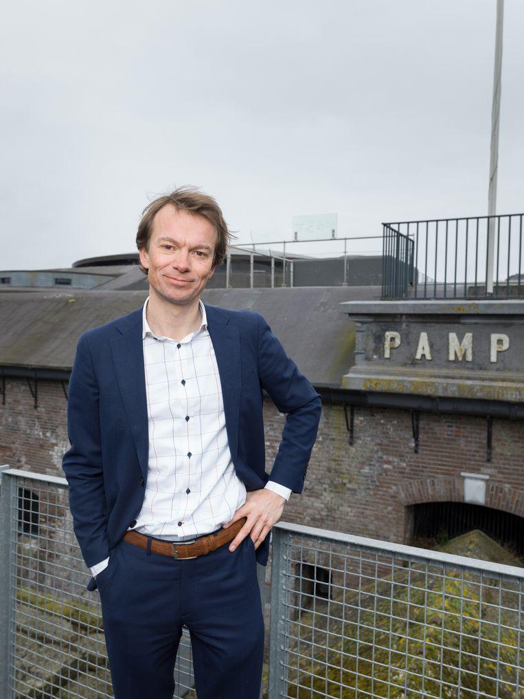 Directeur Tom van Nouhuys van de Stichting Forteiland Pampus Beeld Ivo van der Bent