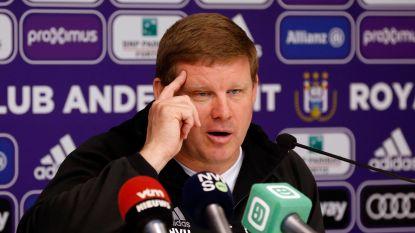 """Vanhaezebrouck komt bij winst met Anderlecht op twee punten van leider  Club: """"Hoop nog op meer dan tweede plaats"""""""