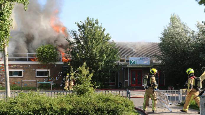 Brand in de Steenvoordeschool in Rijswijk.