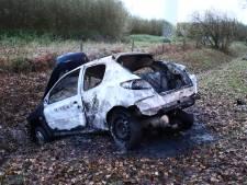 Bestuurder in brand na autocrash en rolt door gras om vlammen te doven