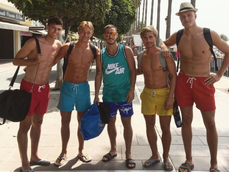 Eden Hazard trok op vakantie naar Marbella.