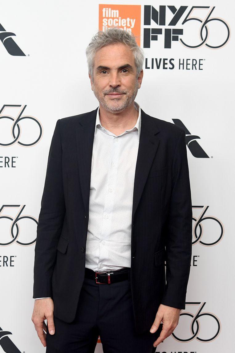 Regisseur Alfonso Cuarón tijdens de première van Roma. Beeld Getty Images